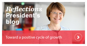 President Tuula Teeri: Toward a positive cycle of growth